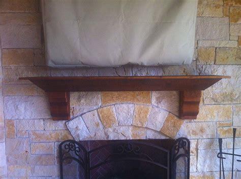 custom outdoor fireplace mantel in mckinney hundt