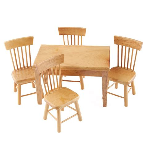 light oak kitchen chairs dollhouse miniature light oak kitchen table and chair set