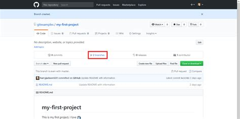 github tutorial advanced how to create a branch of a repository on github