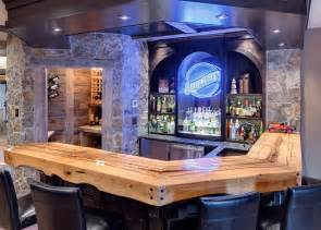 Rustic man cave bar ideas family room traditional with