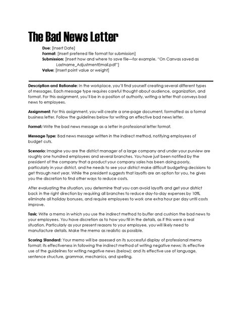 Business Letter Bad News bad news letter the visual communication designing