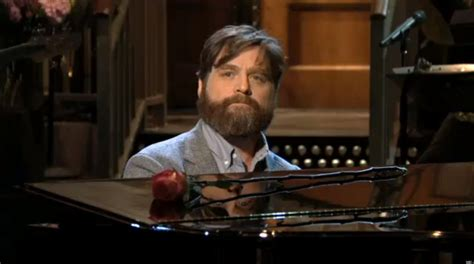 zach galifianakis on snl zach galifianakis snl monologue host kicks things off