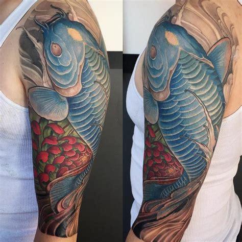 koi fish tattoo on shoulder koi fish shoulder tattoo best tattoo ideas gallery