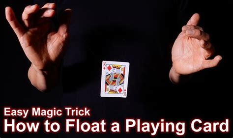 how to make a card levitate easy magic how to levitate a card from to
