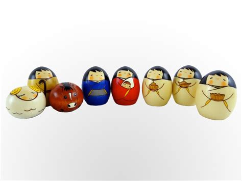 Pc kokeshi nativity set kokeshi designs