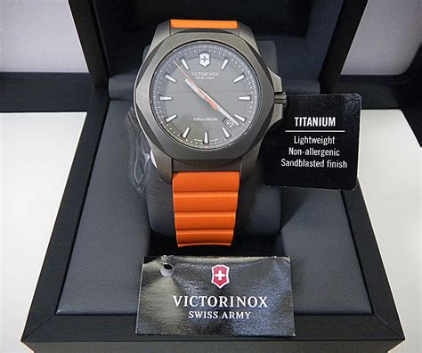 Original Victorinox I N O X 241758 swiss army victorinox inox titanium orange band