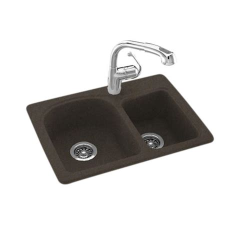 Space Saving Kitchen Sinks Swan Space Saver 25 Quot W X 18 Quot D Bowl Kitchen Sink At