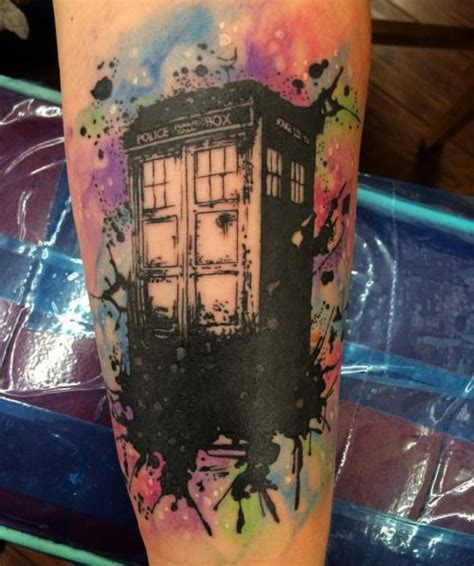 watercolor tattoos austin tx all saints watercolor tardis doctor who by