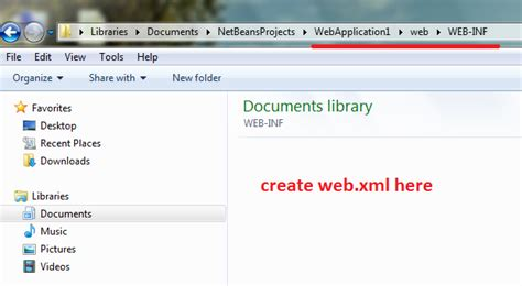 Web Xml | java unable to find web xml in netbeans 7 0 1 stack