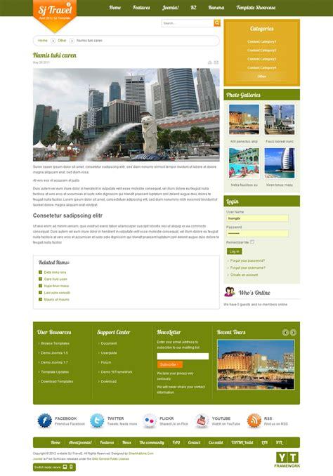 sj travel ii cool travel template joomla themes on