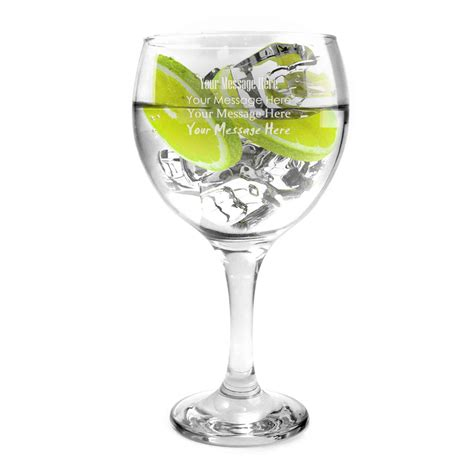 engraved barware the classic spanish copa gin balloon glass optional