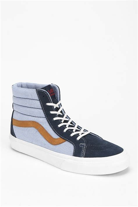 high top vans sneakers vans sk8hi reissue womens high top sneaker in blue lyst