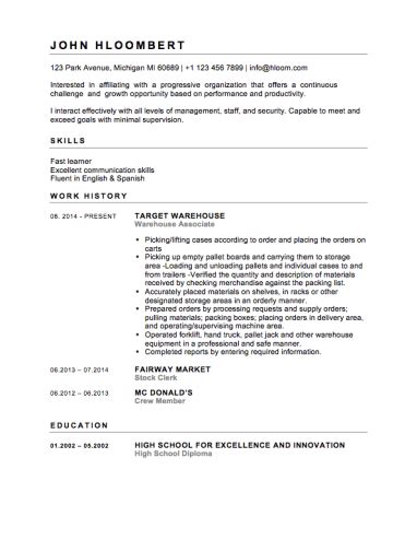 12 free high school student resume exles for teens
