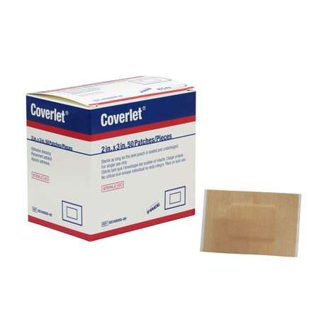 coverlet adhesive dressing latex free bsn coverlet large patch adhesive lightweight fabric