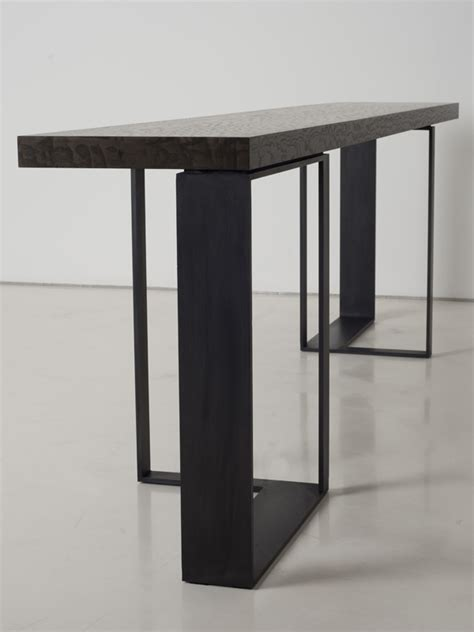 steel esszimmertisch rectangular steel console table st malo collection by