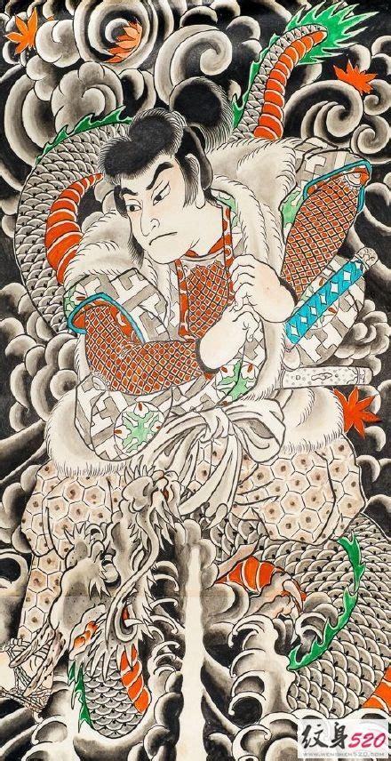 日式传统全甲纹身素材第9页