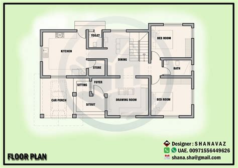 1350 sq ft house plan 1350 sq ft single floor contemporary home design