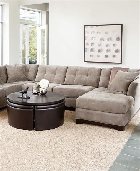family room sectional elliot fabric sectional living room furniture collection