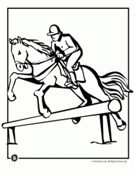 coloring pages of derby horses jumping coloring page ky derby