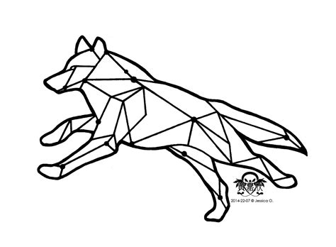 wolf outline tattoo running wolf outline