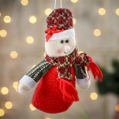 plush mrs claus christmas ornament christmas ornaments