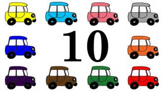 cars learn numbers 1 10 counting cartoon kids