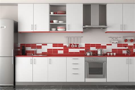 red backsplash kitchen best kitchen colors gallery slideshow