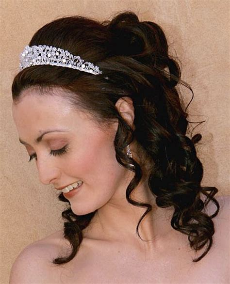 37 half up half wedding hairstyles anyone would - Wedding Hair Half Up Half With Tiara