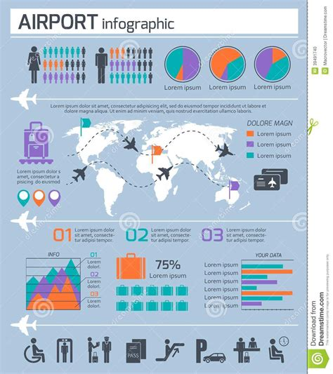 layout of airport ppt airport business infographic set stock vector image