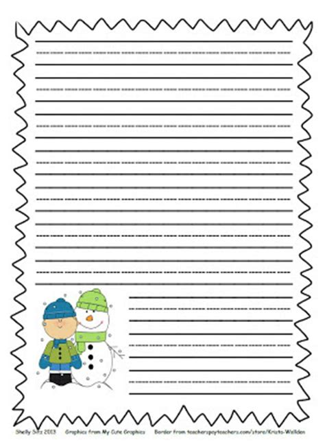 winter writing paper smiling and shining in second grade winter writing paper