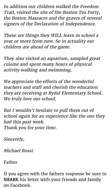 Complaint Letter Sle In School Family S Letter Destroys Schools Complaint About Kid S Absence This Is Priceless Www Des