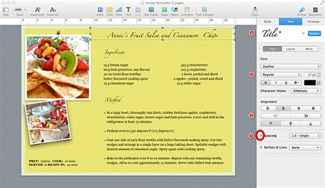 free recipe template for mac pages cover letter templates