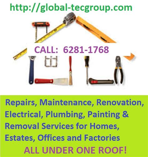 household repairs all under one roof global tec group mcst condo