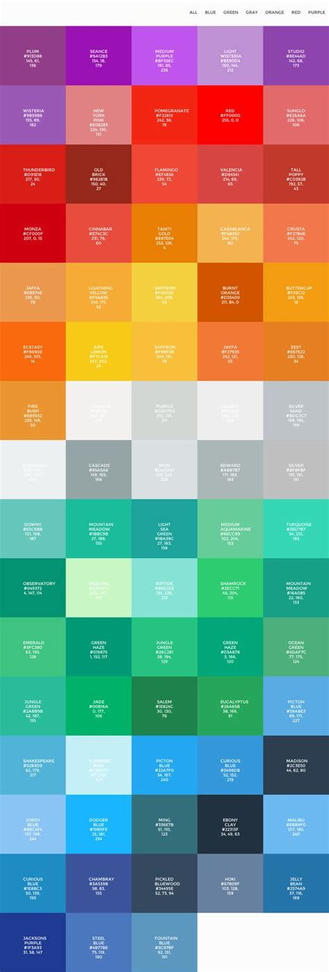 flat ui colors palettes projects to try