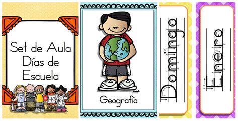 letreros de aulas en colegio completo set de aula para la escuela portadas meses y