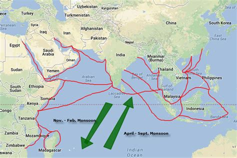 trade pattern of indonesia indian ocean trade routes asian history