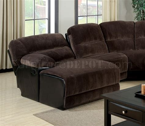 brown microfiber sectional sofa glasgow motion sectional sofa cm6822 in brown microfiber