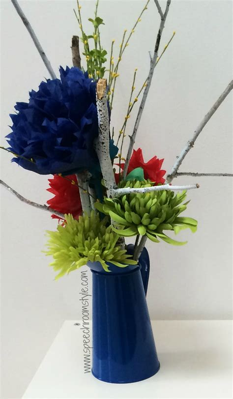 Make Your Own Paper Decorations - classroom decor make your own paper flowers speech room
