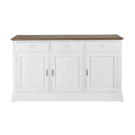 paulownia wood sideboard in white w 150cm leandre