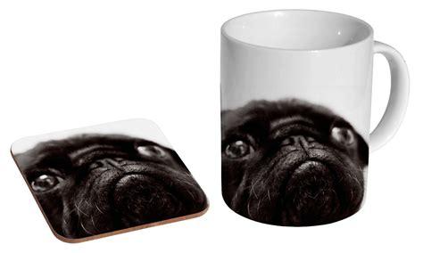 black pug mug black pug mug coaster set i pugs