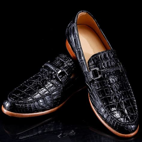 Handmade Boat Shoes - luxury handmade crocodile boat shoes brucegao