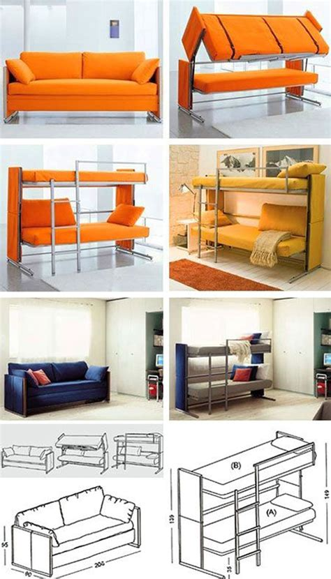 sofa bunk bed space saving furniture sofa bunk beds design