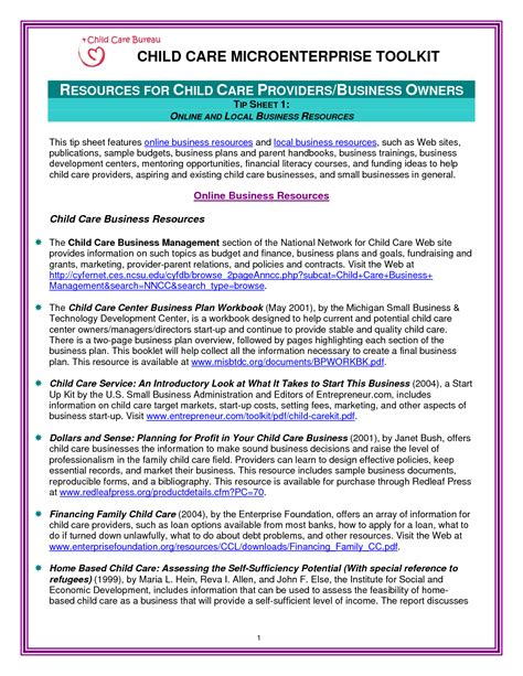 home daycare business plan template 28 business plan template for child care center