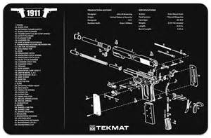 Work Bench Surface 1911 Gun Cleaning Mat By Tekmat