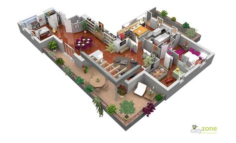 spacious 3 bedroom house plans 50 three 3 bedroom apartment house plans architecture design