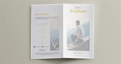 Vertigo Bi Fold Brochure Template Brochure Templates Pixeden Bi Fold Brochure Template Free