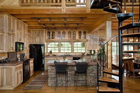 Cabin Kitchen Design Cabin Photos Honest Abe Log Homes Www Coppertech Biz