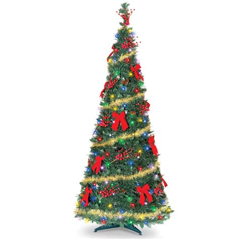 the cordless prelit pop up christmas tree 6 hammacher