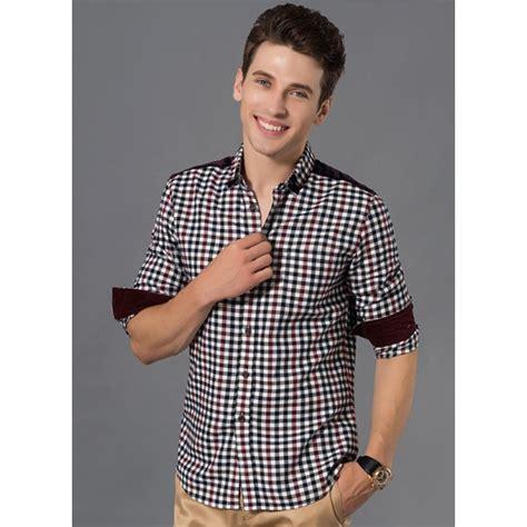 Kaos Lengan Panjang Kotak Chuta Design jual kemeja pria lengan panjang kotak