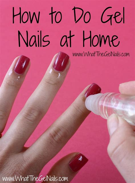 how to do gel nails at home without uv light best 25 gel nails at home ideas on diy gel